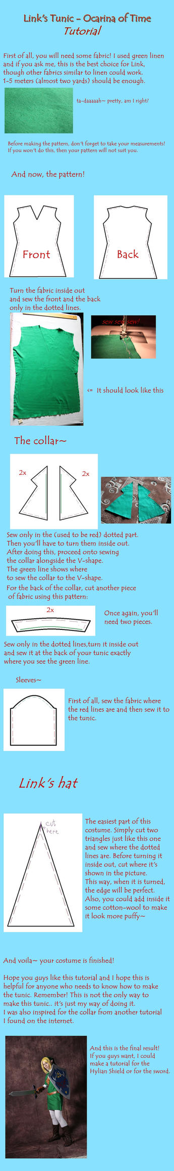 Link tunic tutorial - Ocarina of Time by winged--icarus