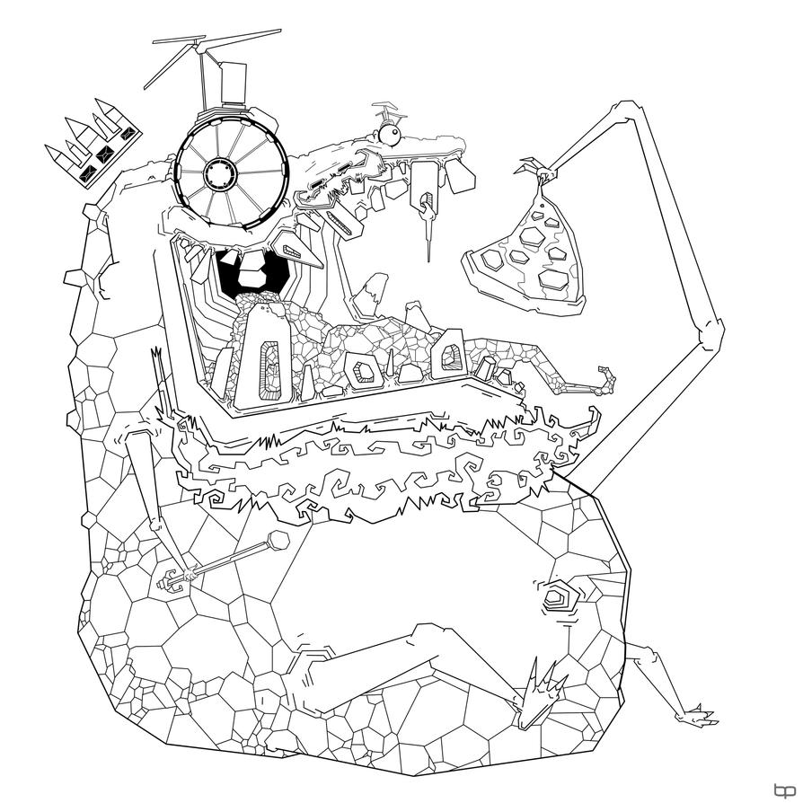 Pin junction coloring pages jungle printable on pinterest for Jungle junction coloring pages