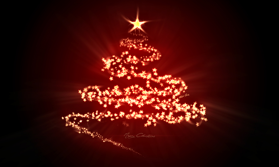 digital art christmas tree - photo #1