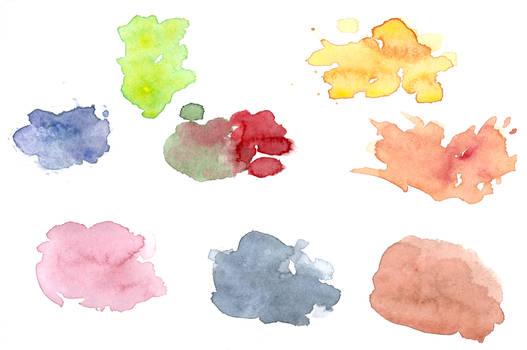 Assorted watercolour spots