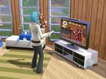 Sims Playing Animal crossing?