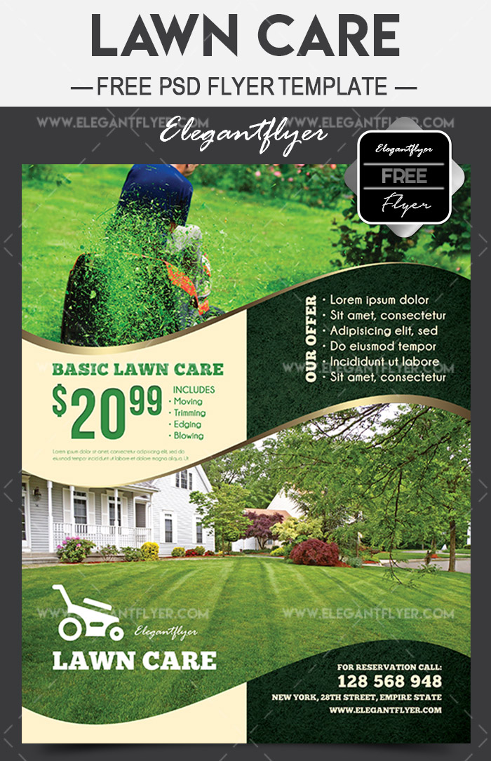 Lawn Care Free Flyer Psd Template By Elegantflyer On Deviantart