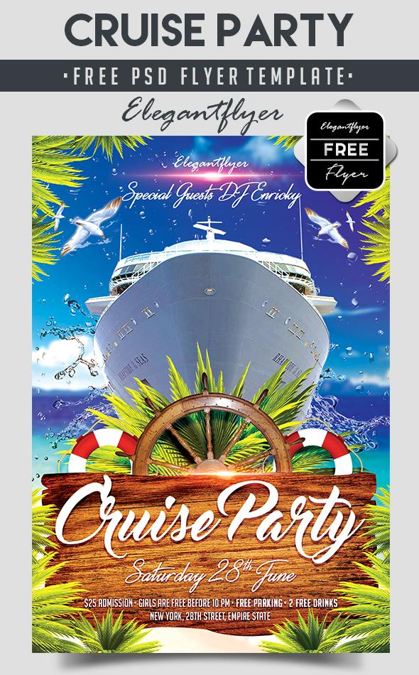 Cruise Party Free Flyer Psd Template By Elegantflyer On Deviantart