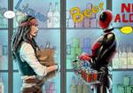 Deadpool and and Captain Jack Sprarow