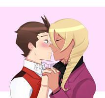 kiss kiss fall in love by ForCrimsonAir