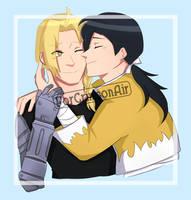 kisses to the golden alchemist by ForCrimsonAir