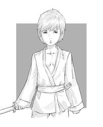 Samurai boy by Mick-cortes