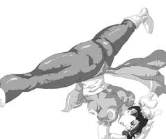 Chun-li - Spinning bird kick by Mick-cortes