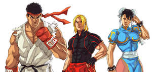 Street Fighter V - Ryu, Ken, Chun-li