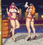 Poison and Roxy (Final Fight) -  Commission