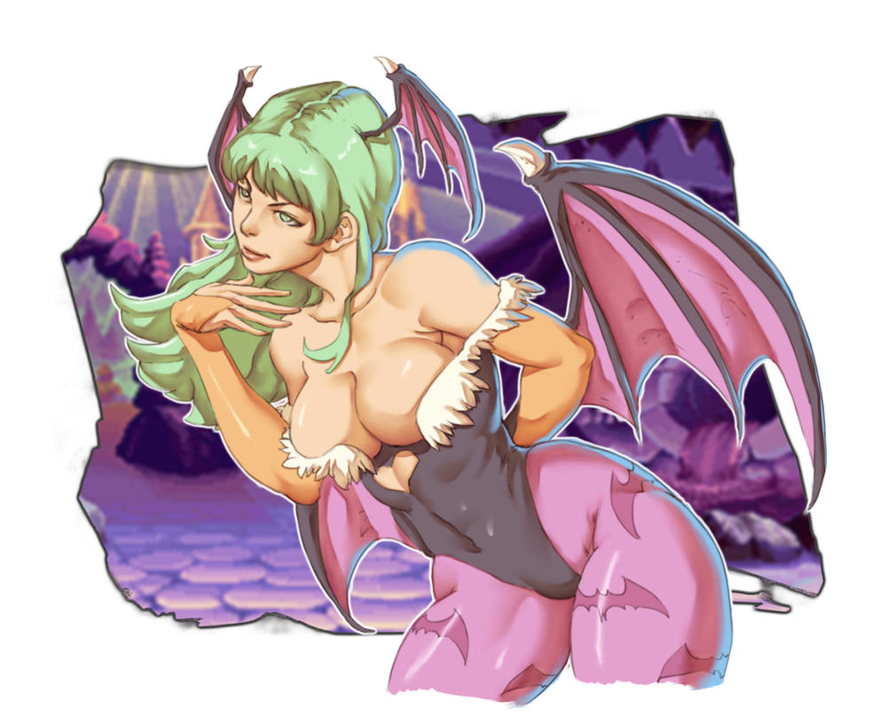 Morrigan - Darkstalkers by Mick-cortes