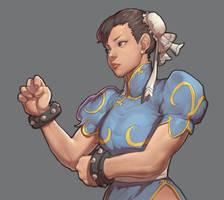 Chun-li Street Fighter by Mick-cortes
