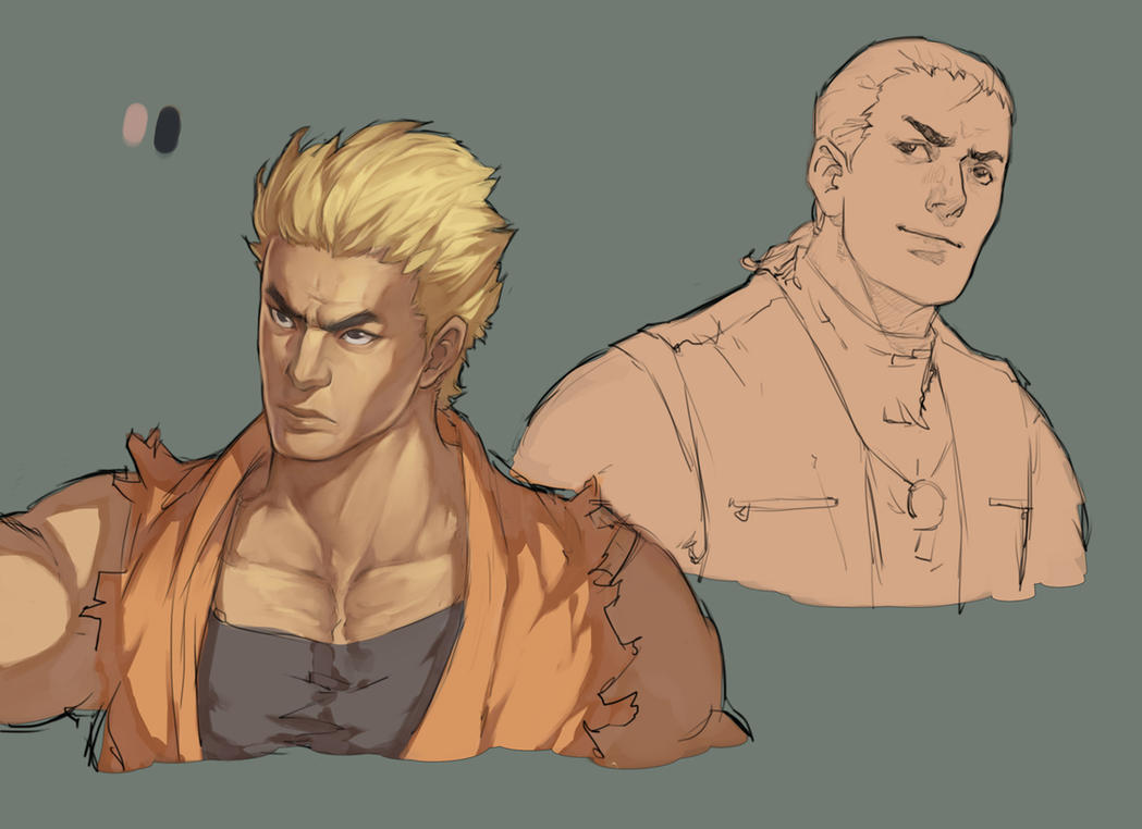 AOF - Ryo, Robert (Unfinished) by Mick-cortes