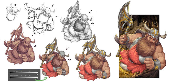 Dungeons and Dragons Dwarf - Step by step