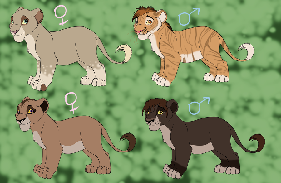 P.O The Lion King Adoptable_set_1_by_trulion-d5cfe77