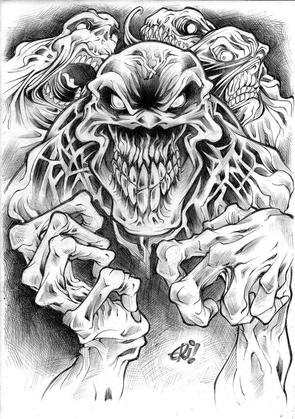 Zombie Tattoo Sketches Zombie Tattoo Design Final by