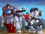 Ironhide Prowl Sideswipe Jazz Walk in Slow Motion