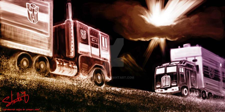 Prime Motor Group >> Optimus Prime vs. Motormaster by ryuzo on DeviantArt