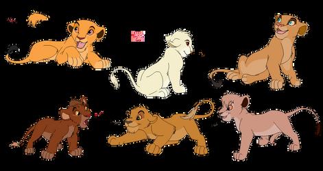 [ADOPTS] 6 Cubs by ShadowSpirit020