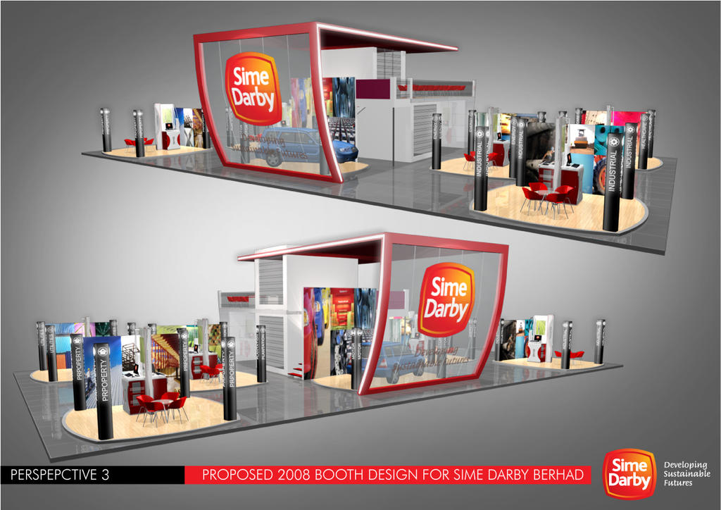 Sime Darby Booth Design 2 by virus26 on DeviantArt