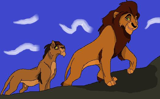Arashi walking with son by kitsune019