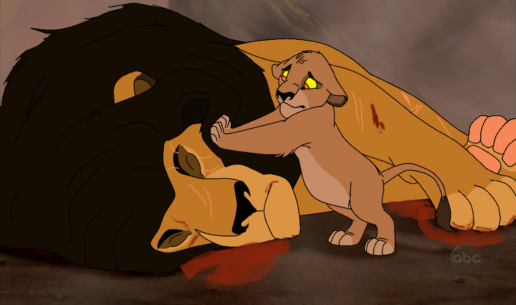 Son discovering his hurt father by kitsune019