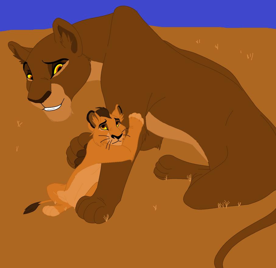 Rita comforting grandson by kitsune019