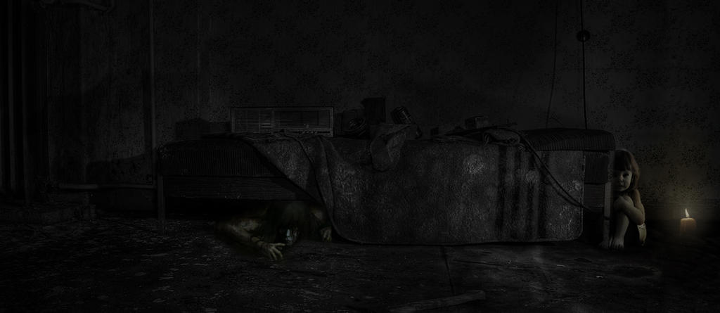 monster unter dem bett by photoshopart cwsurf on deviantart. Black Bedroom Furniture Sets. Home Design Ideas