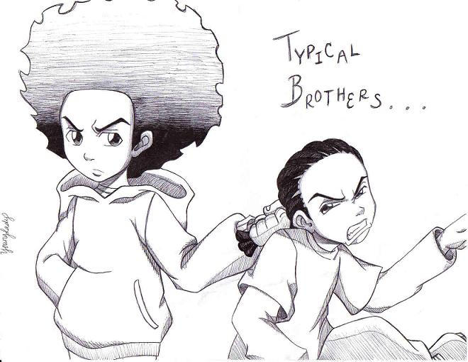 the boondocks riley coloring pages - photo#23