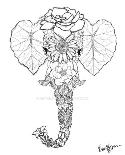 Flower Series - Elephant (SKETCH) by Simonbagel on DeviantArt