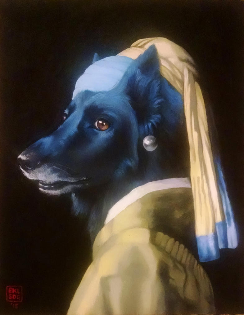 Dog With The Pearl Earring By Simonbagel