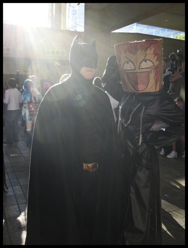 Axel + Batman equals pervyplz? by marimoface