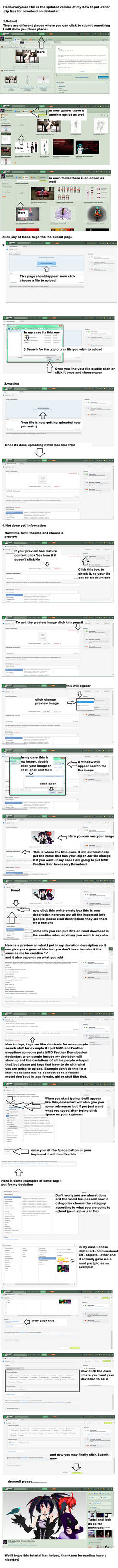 How to put rar/zip files on deviantart for DL