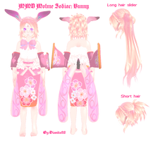MMD Motme zodiac-Bunny by MikuEvalon