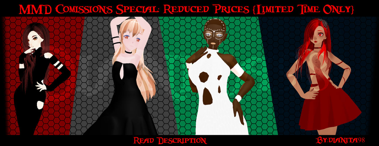MMD Comissions Special: Prices Reduced! *closed*
