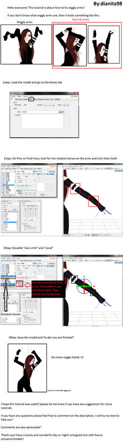 MMD Tutorial: How to fix Wiggly arms