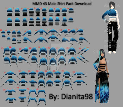 MMD 43 Male Shirt Pack Download