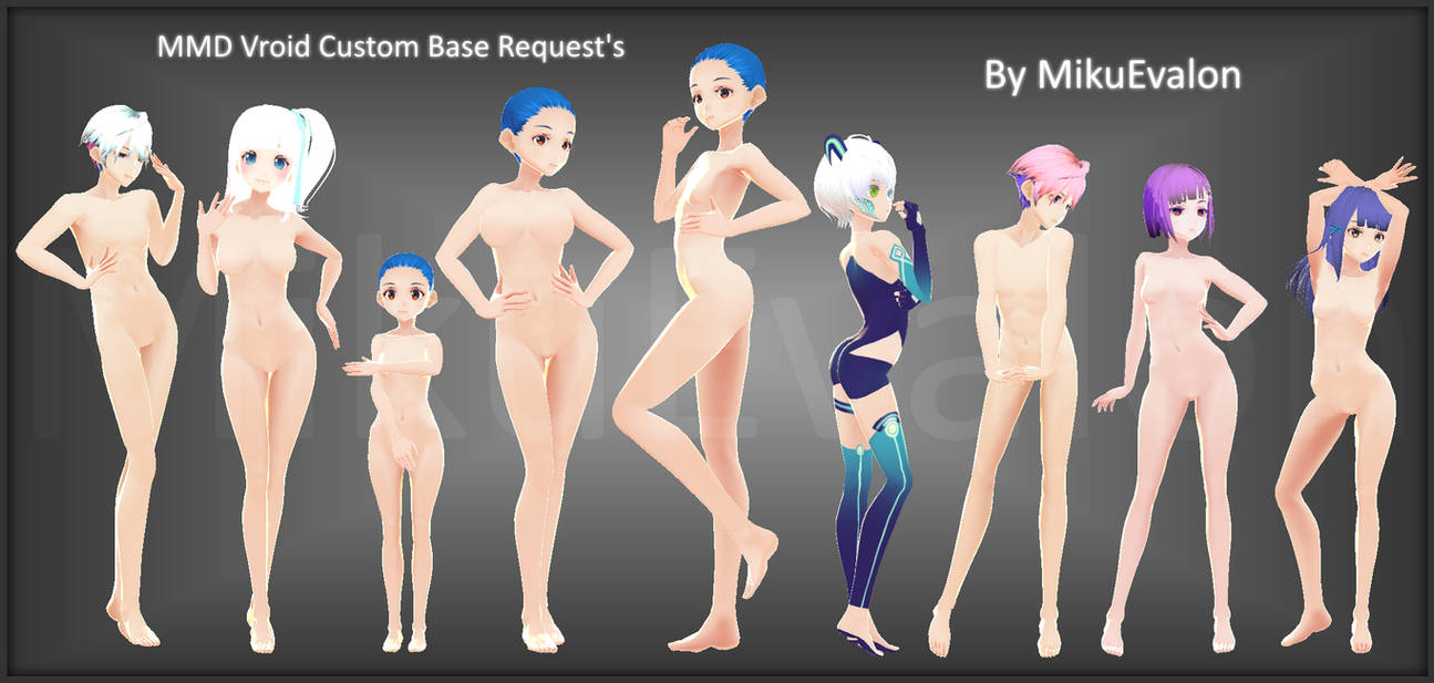 MMD Vroid Custom Base Request's {Open}