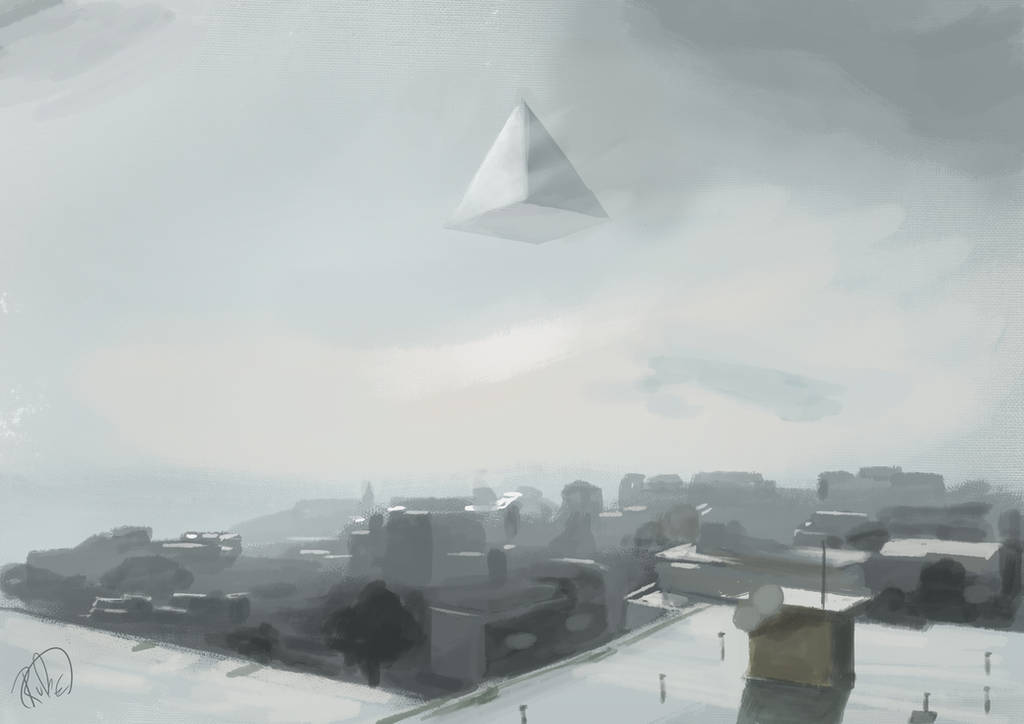 Pyramid in the sky by RsunA