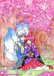 Commission - Blunari and Zenketsu by Angeru-chin