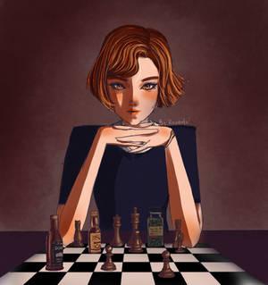 Beth Harmon, the Queens Gambit, fanart