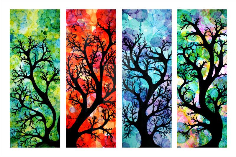 Always the Season for Trees by minikikiart