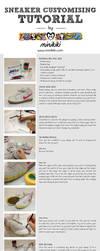 Sneaker customising tutorial by minikikiart