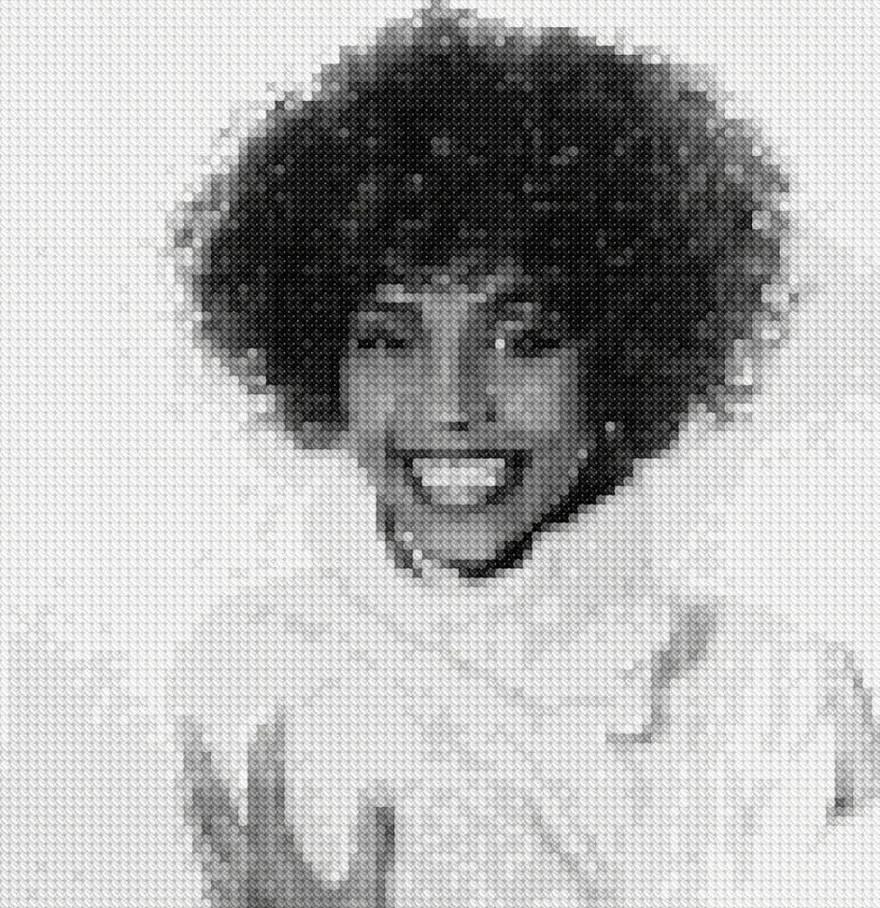 Whitney Houston Cross-Stitch