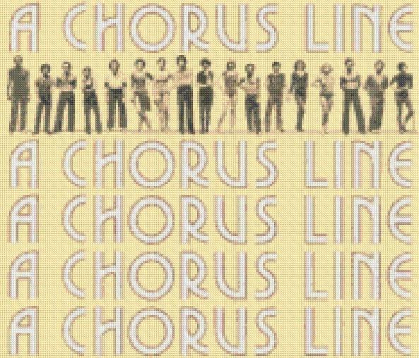 A Chorus Line - Original 1975 Cast Cross-Stitch