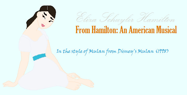 Eliza Schuyler (Hamilton) - In the style of Mulan