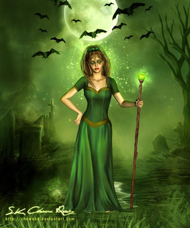 Dark knight lady by SK-DIGIART