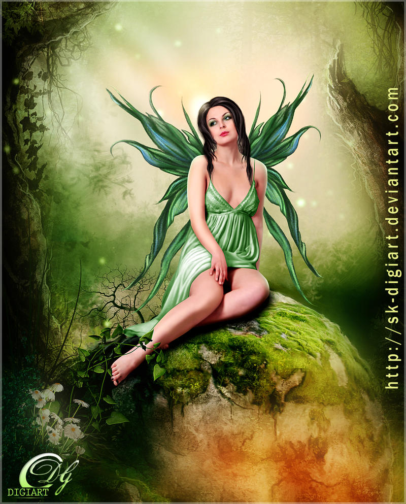 Green Fairy___!  :D by SK-DIGIART