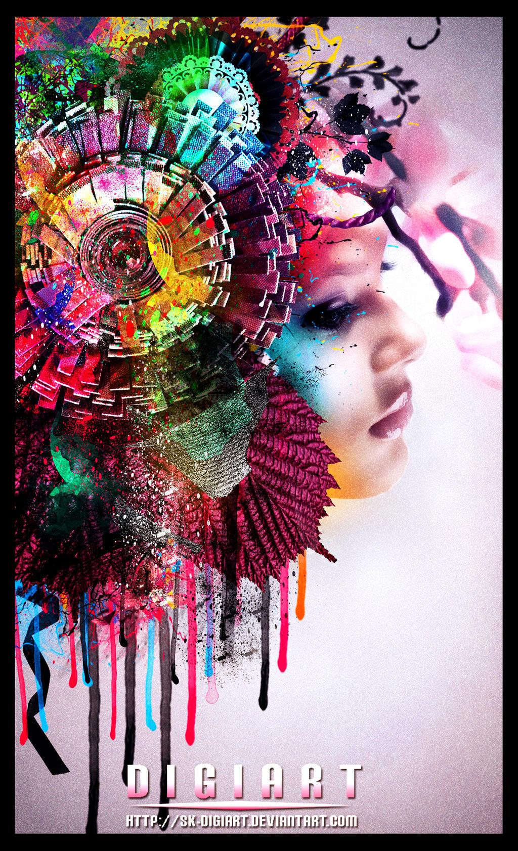 Splatter colors V2 by SK-DIGIART