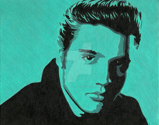 Elvis by JustinSpyresArt